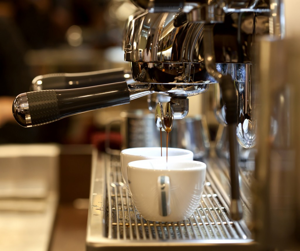 espresso in coffee shop