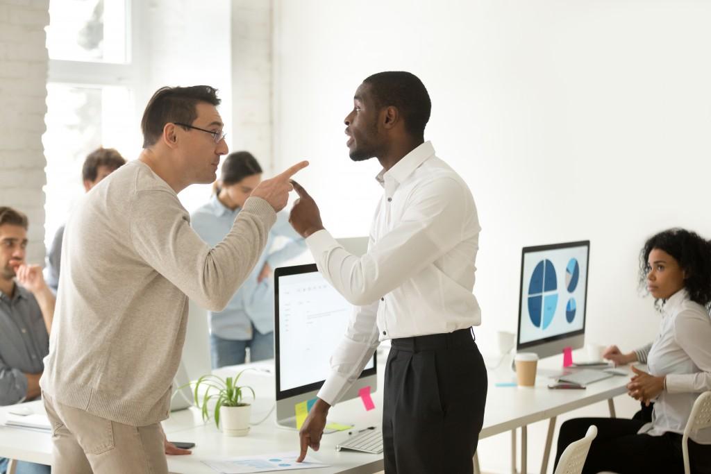 Employees having a disagreement