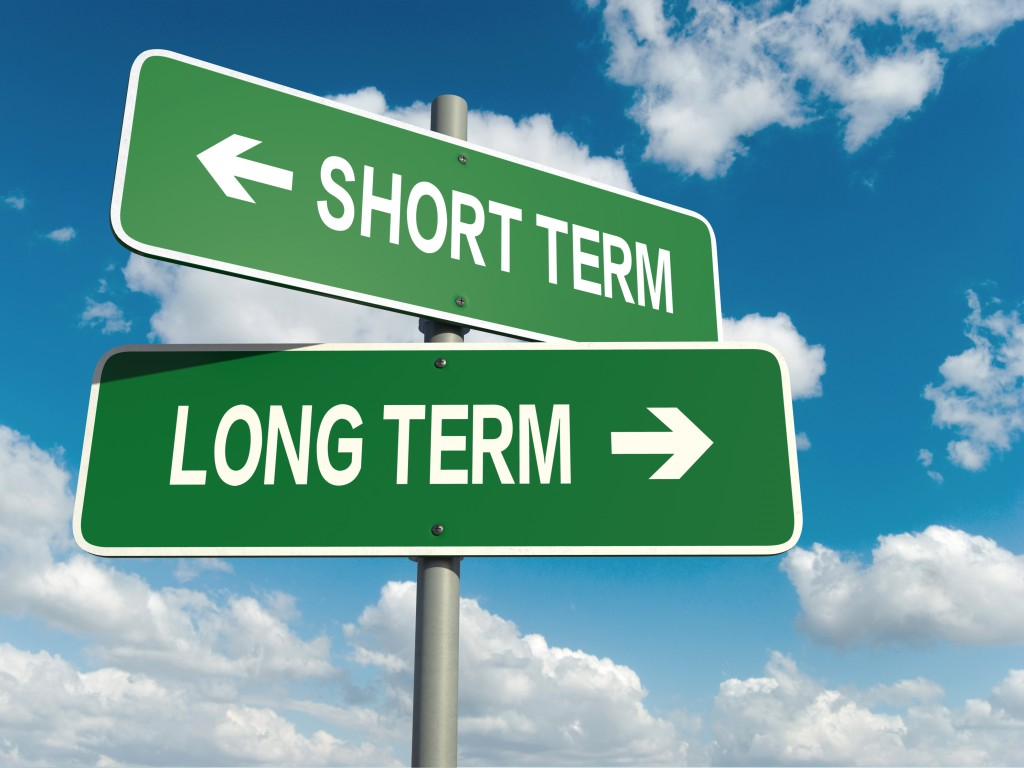sign of short term and long term goals