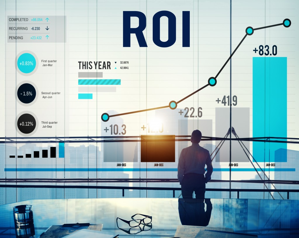 return of investment financial concept