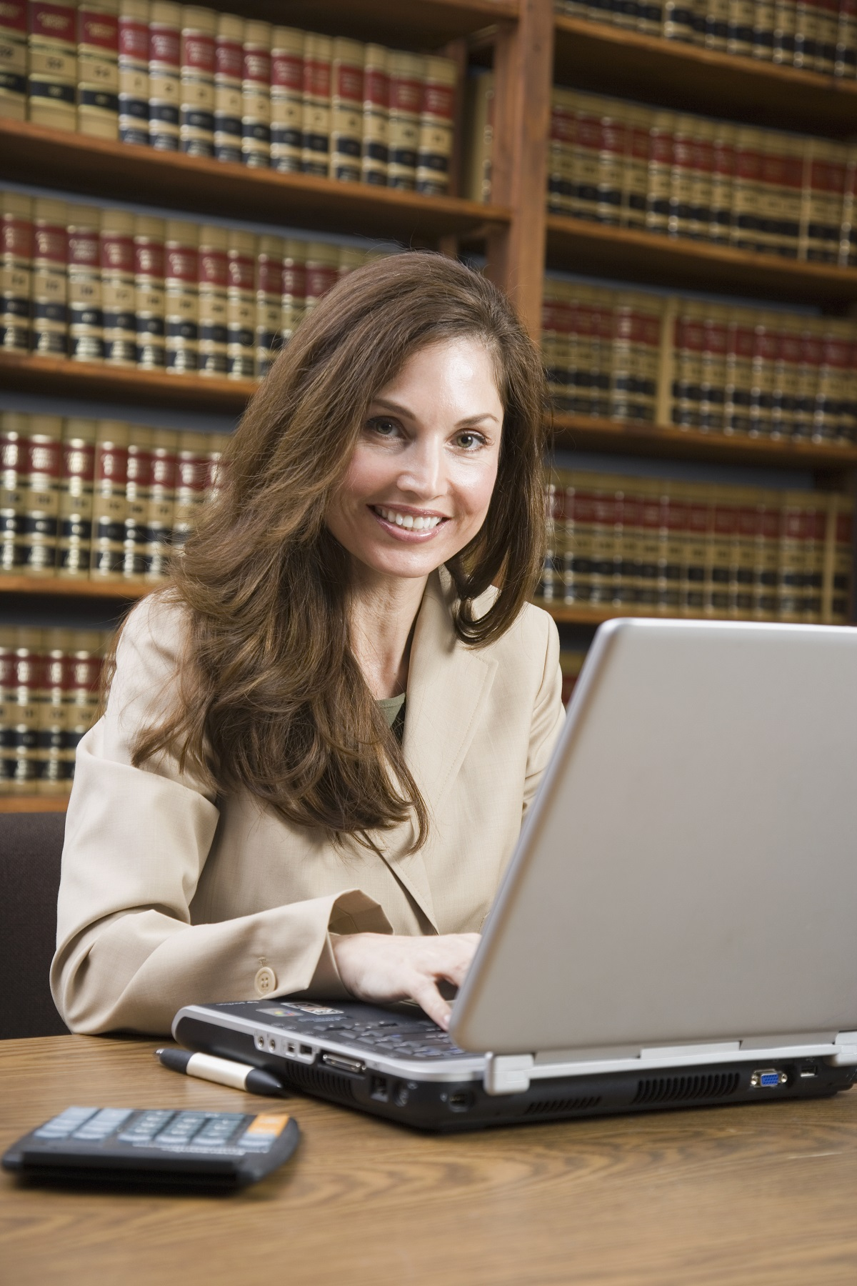 paralegal working in her office