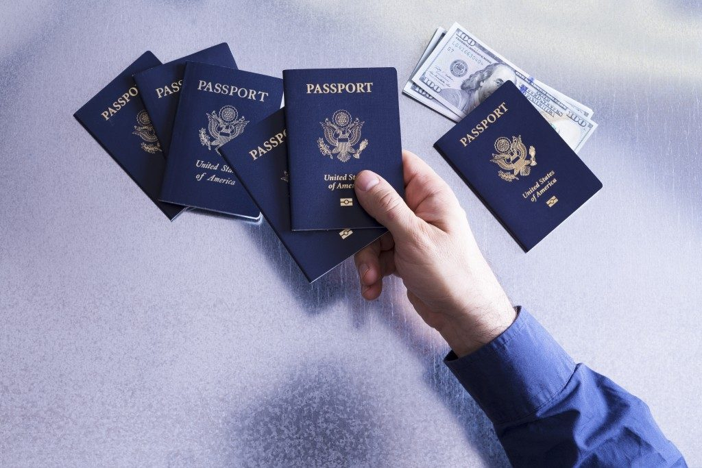 a collection of passports