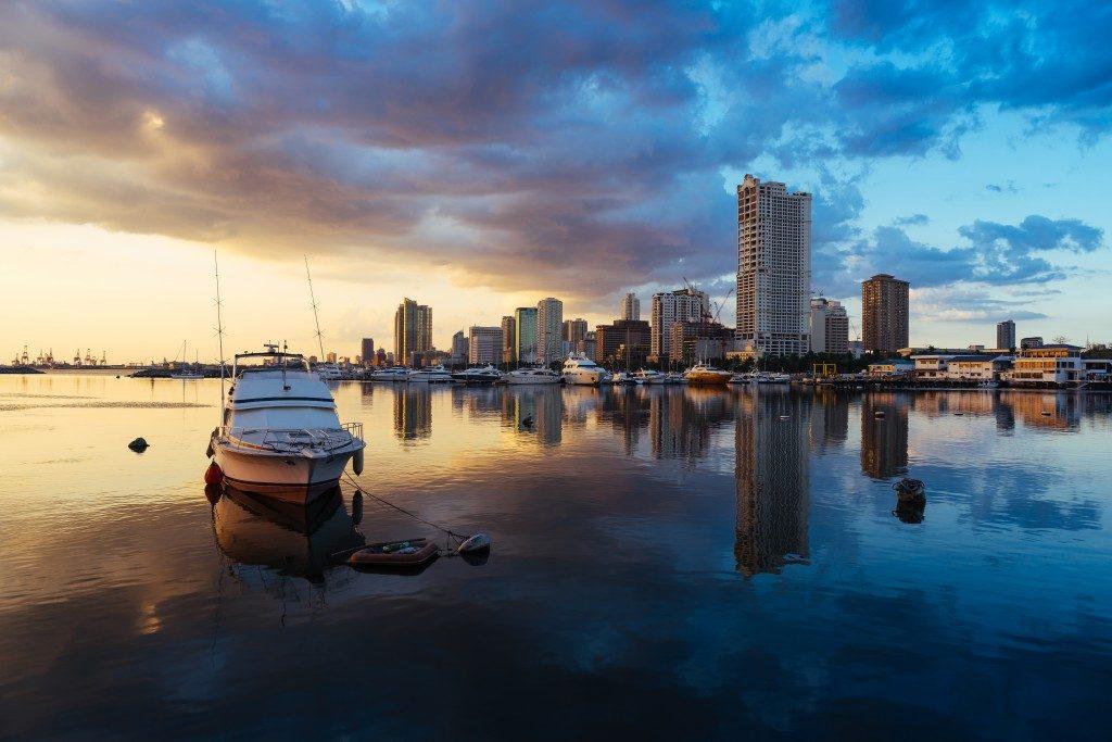 sailing ship at dawn