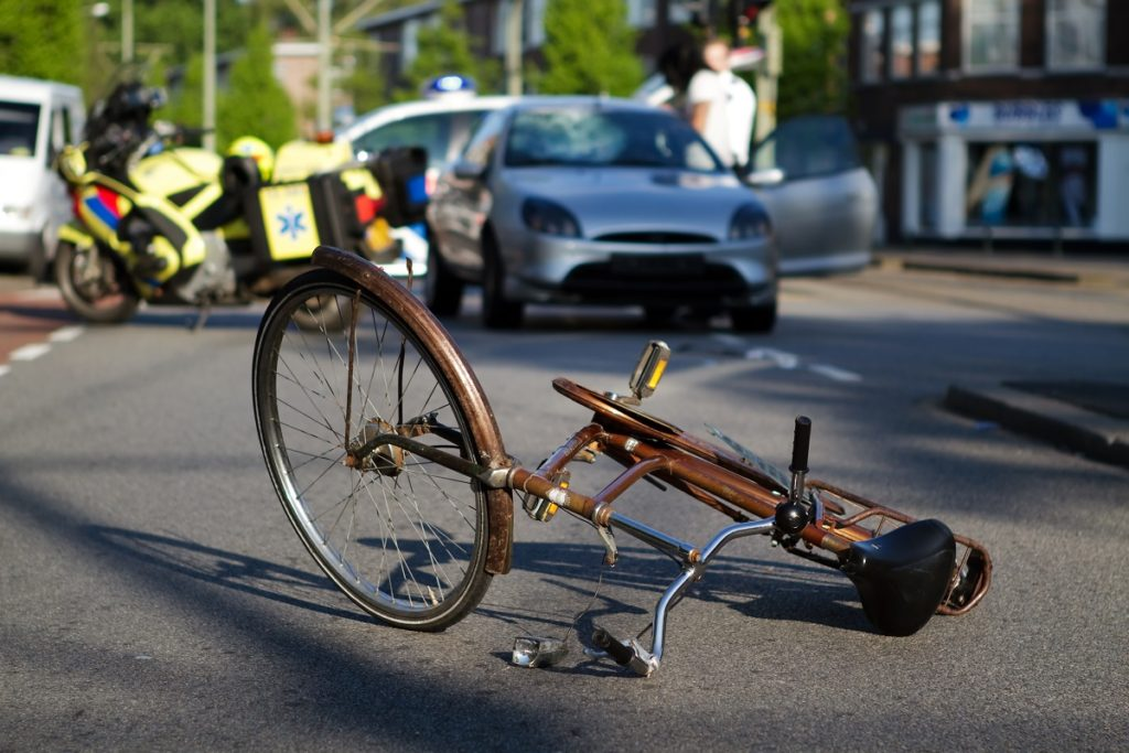 EMS responding to cycling accident