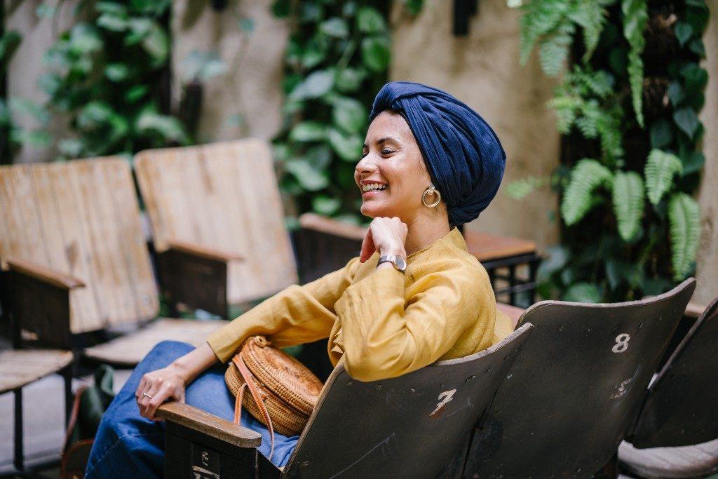 Woman, modest living