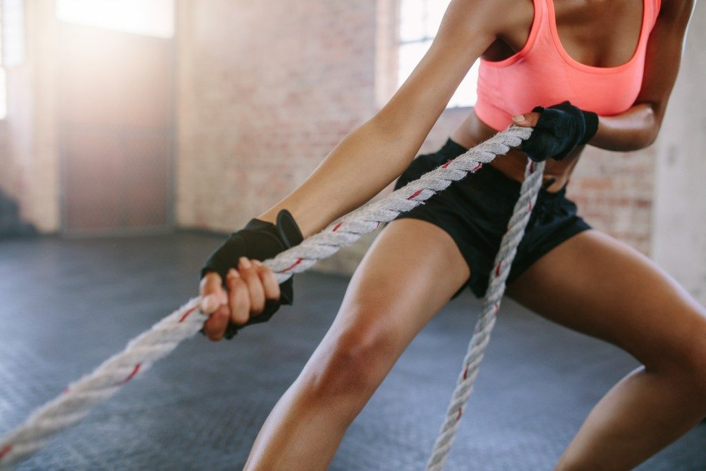 Cross-training pulling rope