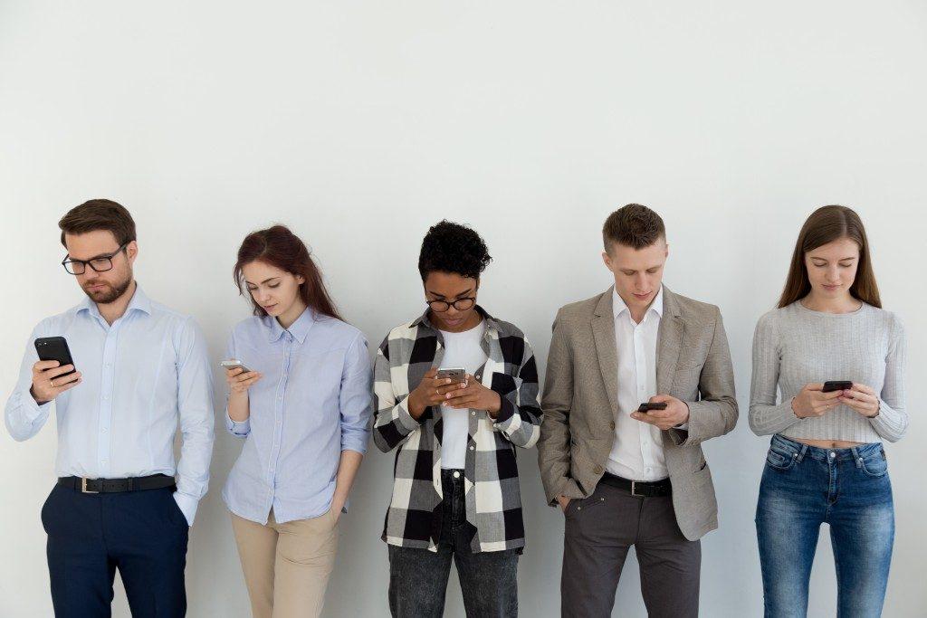using phones