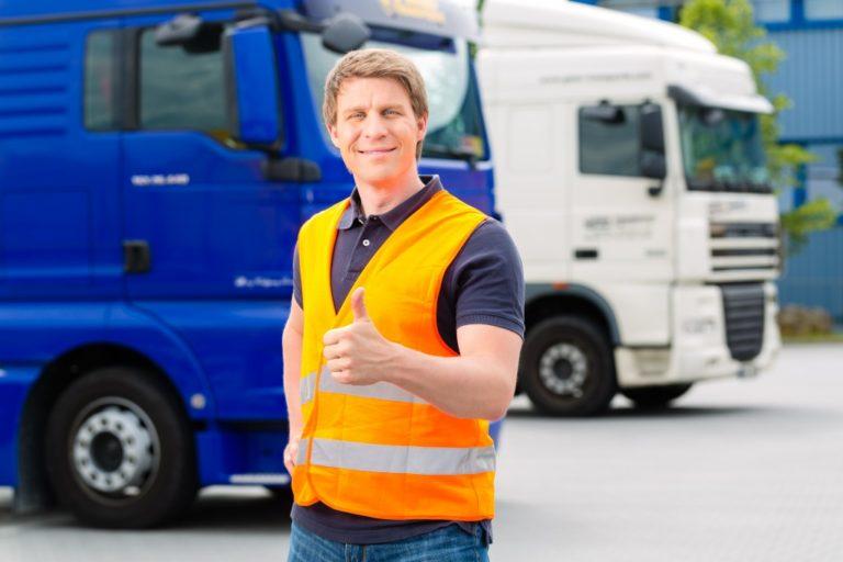 man wearing a safety vest